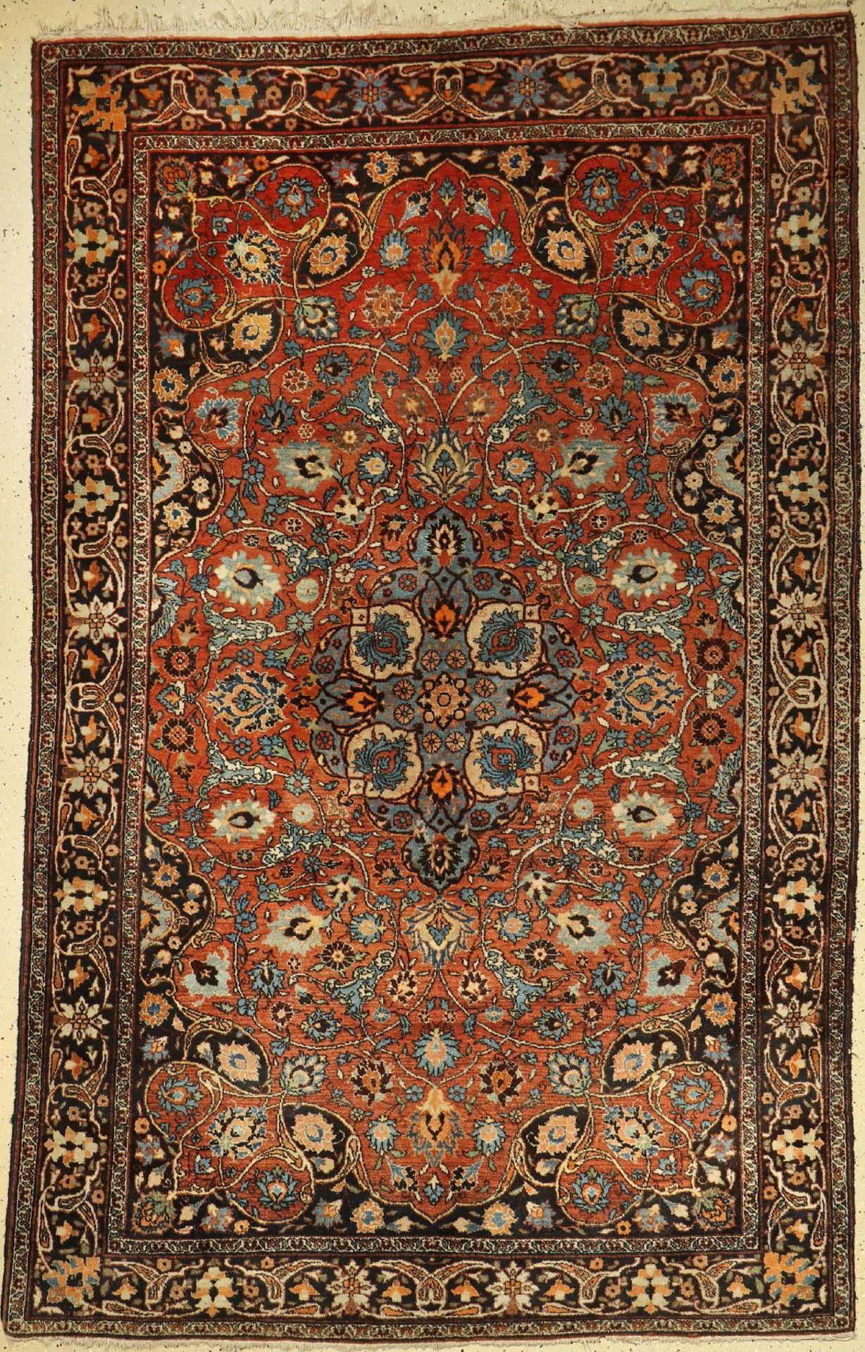 Täbriz alt, Persien, um 1930, Wolle auf Baumwolle, ca. 262 x 166 cm, EHZ: 2-3