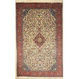 Sarogh fein, Persien, ca. 40 Jahre, Korkwolle, ca. 210 x 131 cm, EHZ: 2 (Flecken)