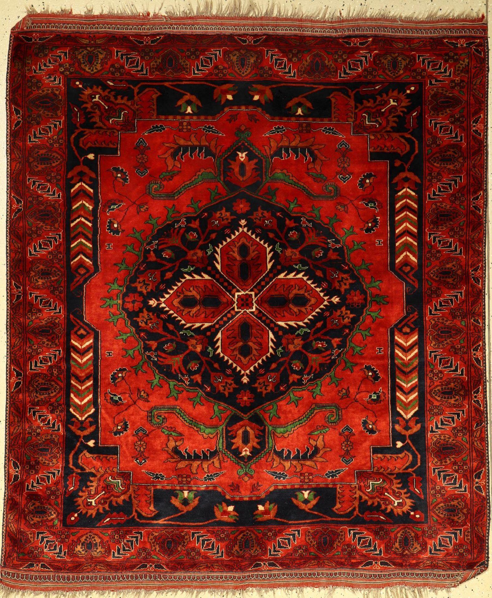 Gouchan alt, Persien, ca. 50 Jahre, Wolle auf Wolle, ca. 180 x 155 cm, EHZ: 2-3