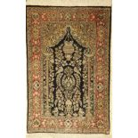 Seiden Ghom alt, Persien, ca. 50 Jahre, reine Naturseide, ca. 124 x 82 cm, EHZ: 2-3