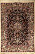 Esfahan (Signiert), Persien, ca. 40 Jahre, Korkwolle mit und auf Seide, ca. 160 x 109 cm, EHZ: 2-