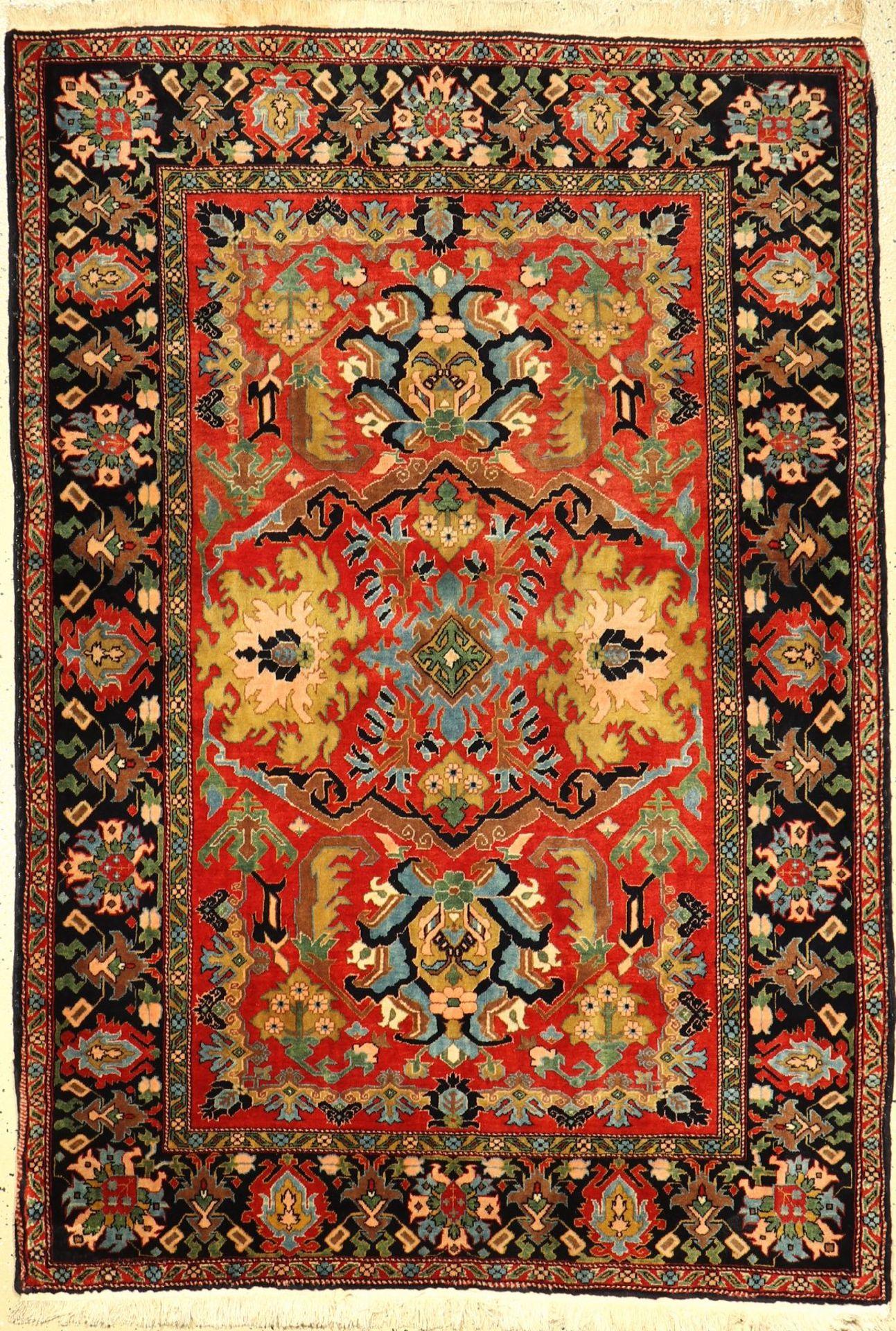 Feiner Azeri alt, Azerbaijan, um 1940, Wolle auf Baumwolle, ca. 188 x 123 cm, EHZ: 2