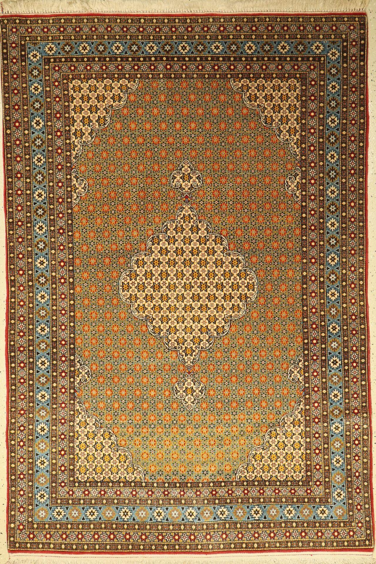 Ghom alt, Persien, ca. 50 Jahre, Wolle auf Baumwolle, ca. 215 x 145 cm, EHZ: 2