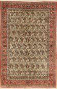 Ghom alt, Persien, ca. 50 Jahre, Wolle auf Baumwolle, ca. 211 x 137 cm, EHZ: 2-3