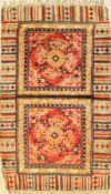 Ninghsia Sitzmatte, China, um 1930, Wolle auf Baumwolle, ca. 118 x 71 cm, EHZ: 3