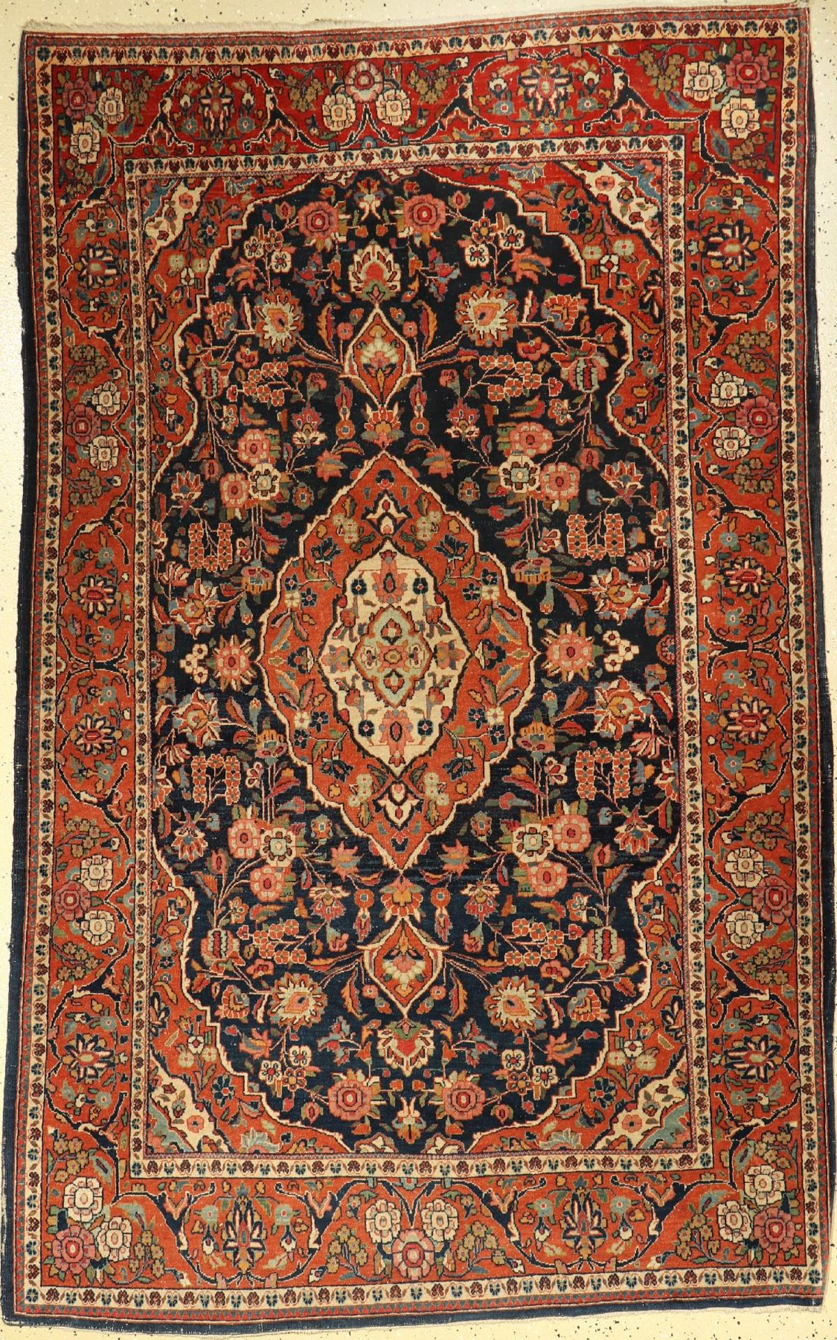 Keschan alt, Persien, um 1920, Wolle auf Baumwolle, ca. 210 x 135 cm, EHZ: 3