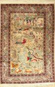 Kashmir alt, Indien, ca. 60 Jahre, Wolle auf Baumwolle, ca. 363 x 248 cm, EHZ: 2