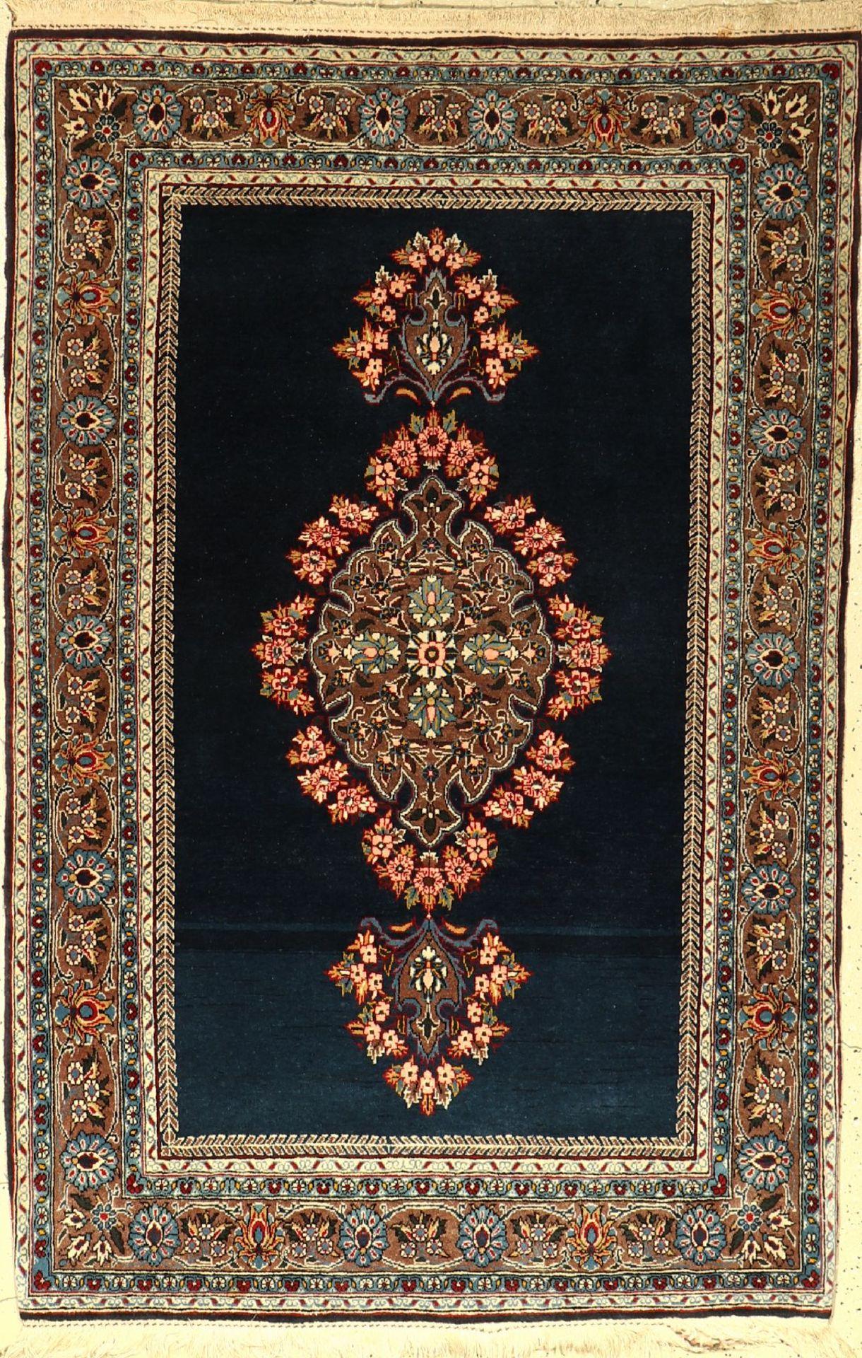 Ghom alt, Persien, ca. 50 Jahre, Wolle auf Baumwolle, ca. 163 x 106 cm, EHZ: 2-3