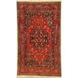 "Feiner Esfahan ""Ahmad"" antik, Persien, um 1900, Korkwolle, ca. 233 x 136 cm, sehr hochwertige"