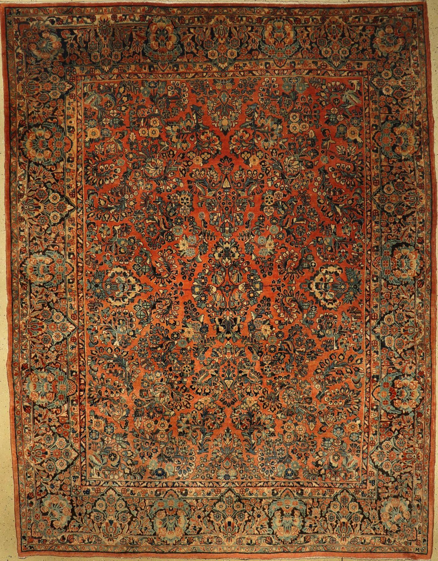 Sarogh (Us Re-Import) alt, Persien, um 1930, Korkwolle, ca. 353 x 273 cm, EHZ: 3