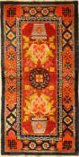China alt, um 1930, Wolle auf Baumwolle, ca. 146 x 75 cm, EHZ: 2-3