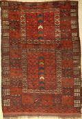 Ersari Engsi antik, Turkmenistan, 19.Jhd., Wolle auf Wolle, ca. 192 x 135 cm, (Alters