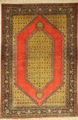 Ghom Seide, Persien, ca. 50 Jahre, reine Naturseide, ca. 200 x 135 cm, EHZ: 2