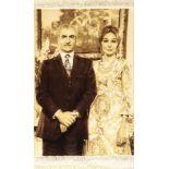 Feiner Täbriz (50 RAJ) Reza Schah Pahlavi & Farah Diba Pahlavi, Persien, ca. 15 Jahre alt, Korkwolle
