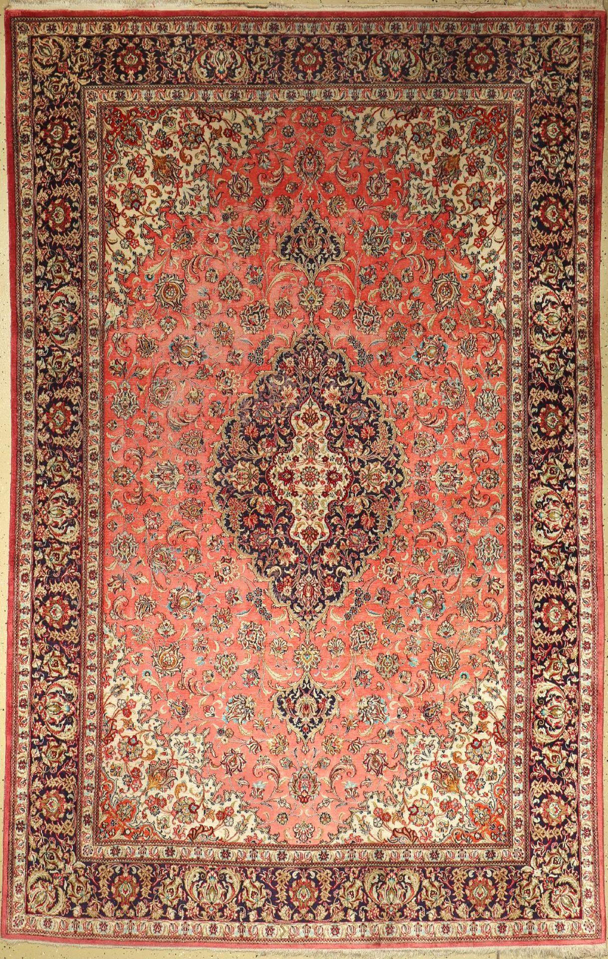 Seiden Ghom, Persien, ca. 40 Jahre, reine Naturseide, ca. 308 x 194 cm, EHZ: 5