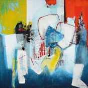 Silvia Sartelet, born 1947 Berlin, abstract composition, acrylic / canvas, signed on the right,
