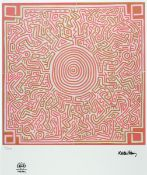 Keith Haring, 1929-1995, color lithograph on wove paper, num. 15/150, with Keith Haring Estate