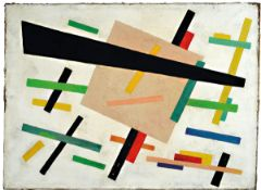 Unknown artist of the Russian avant-garde, abstract composition on a white background, oil / canvas,