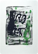 Georg Baselitz, born 1938, color lithograph insmall edition, on thick wove paper, num. 6/15,from