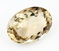 Loose citrine, approx. 317 ct , oval bevelled, approx. 54 x 40 x 24 mm Valuation Price: 2300, -