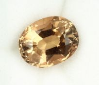 Loose oval bevelled topaz 4.48 ct Valuation Price: 380, - EUR