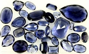 Lot loose iolites total 35.8 ct, different shapes Valuation Price: 780, - EUR