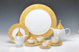 coffee- and Mocha set, Rosenthal Model The Magic Flute Zarasto, Design Björn Wiinblad, porcelain,
