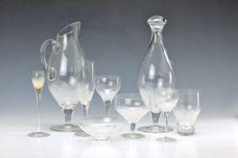 extensive glass-Set, Rosenthal, Model lotus, design by Richard Latham (shape) and Björn Wiinblad (