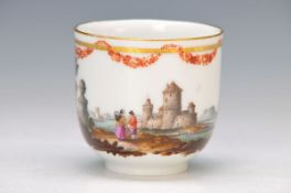 cup, KPM Berlin, around 1770-80, porcelain, finely painted in bright colors with landscape, castle