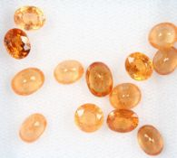 Lot loose oval bevelled mandarin garnets , total 10.15 ct Valuation Price: 1400, - EURLot lose