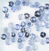 Lot loose bevelled tanzanites, total 12.57 ct,round Valuation Price: 1400, - EURLot lose facett.