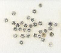 Lot 32 loose brilliants, total approx. 1.6 ct Wesselton-Crystal/si-p, partially dismounted Valuation
