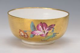 pompous bowl, Höchst, around 1765-70, of the Goldfond Set, painter Jacob Melchior Höckel, very