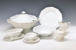 tea- and Dinner set, Rosenthal classic rose, model Maria in white, Soup tureen, 2 Ragout bowls, 4