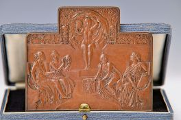 August Vogel, Platter, 200 years anniversary on the Sciences and the Art, front side: Venusand
