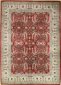 Hereke Wool Rug Signed, Turkey, approx. 50 years, wool on cotton, approx. 240 x 173 cm, condition: