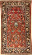 Kashan old, Persia, around 1940, wool, approx.228 x 127 cm, condition: 3. Auction: Antique, old