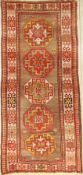 Kars Kazak antique, Turkey, around 1900, wool on wool, approx. 298 x 136 cm, condition: 4-5.Auction:
