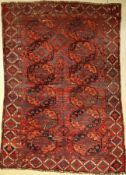 Antique Ersari, Turkmenistan, late 19th century, wool on wool, approx. 262 x 184 cm, condition: 4-5.