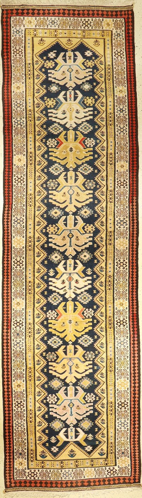Northwest Persian Kilim, Persia, around 1930, wool on cotton, approx. 448 x 126 cm, condition: 2.