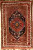Sirjan-Afshar old, Persia, around 1930, wool on wool, approx. 183 x 120 cm, condition: 3-4.