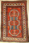 Antique Kazak, Caucasus, around 1900, wool on wool, approx. 195 x 128 cm, condition: 2-3. Auction: