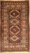 Kazak Memling Gul Rug antique, Caucasus, around 1900, wool on wool, approx. 162 x 97 cm,