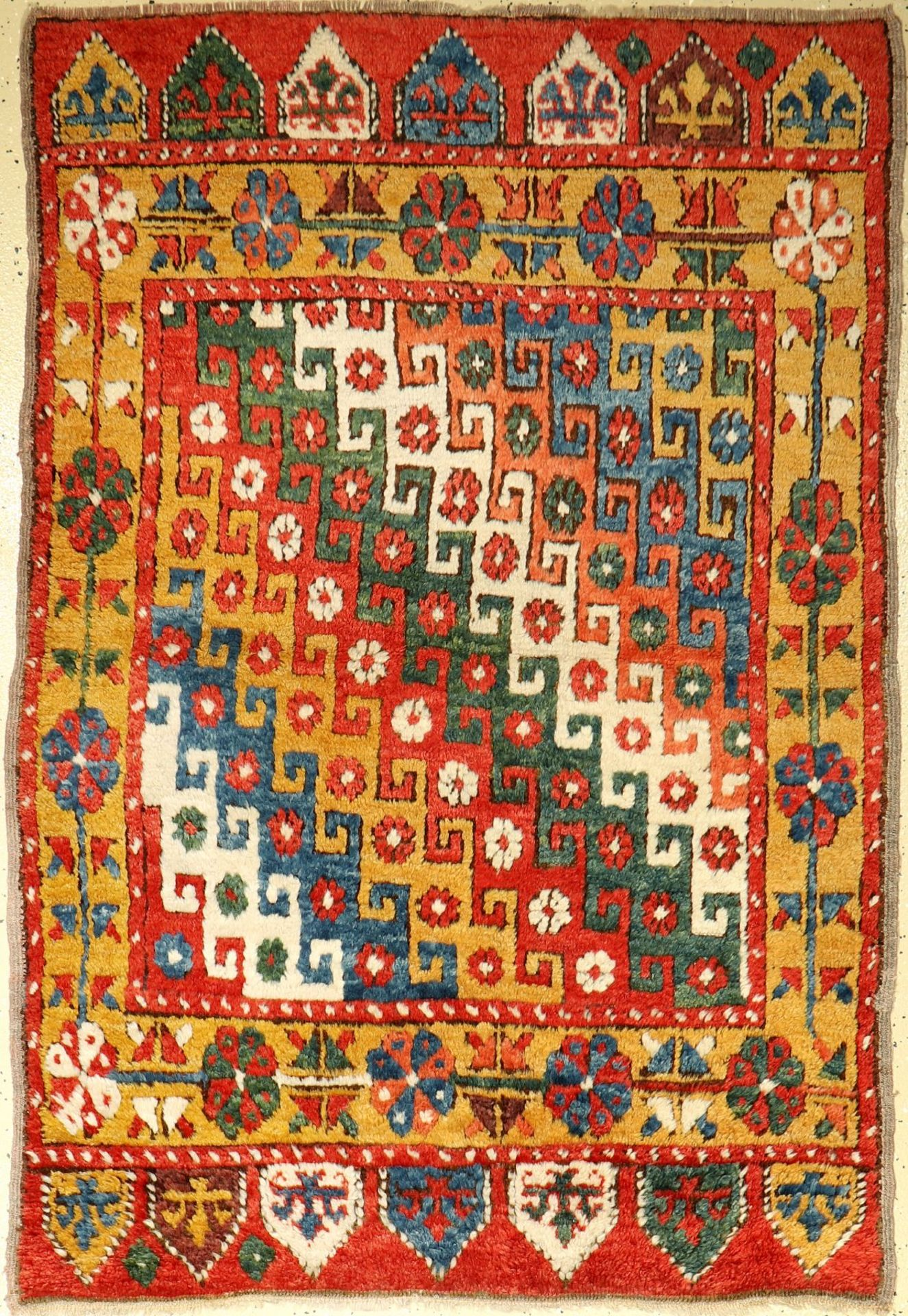 Konya old, Anatolia, around 1940, wool on wool, approx. 162 x 112 cm, condition: 2-3. Auction:
