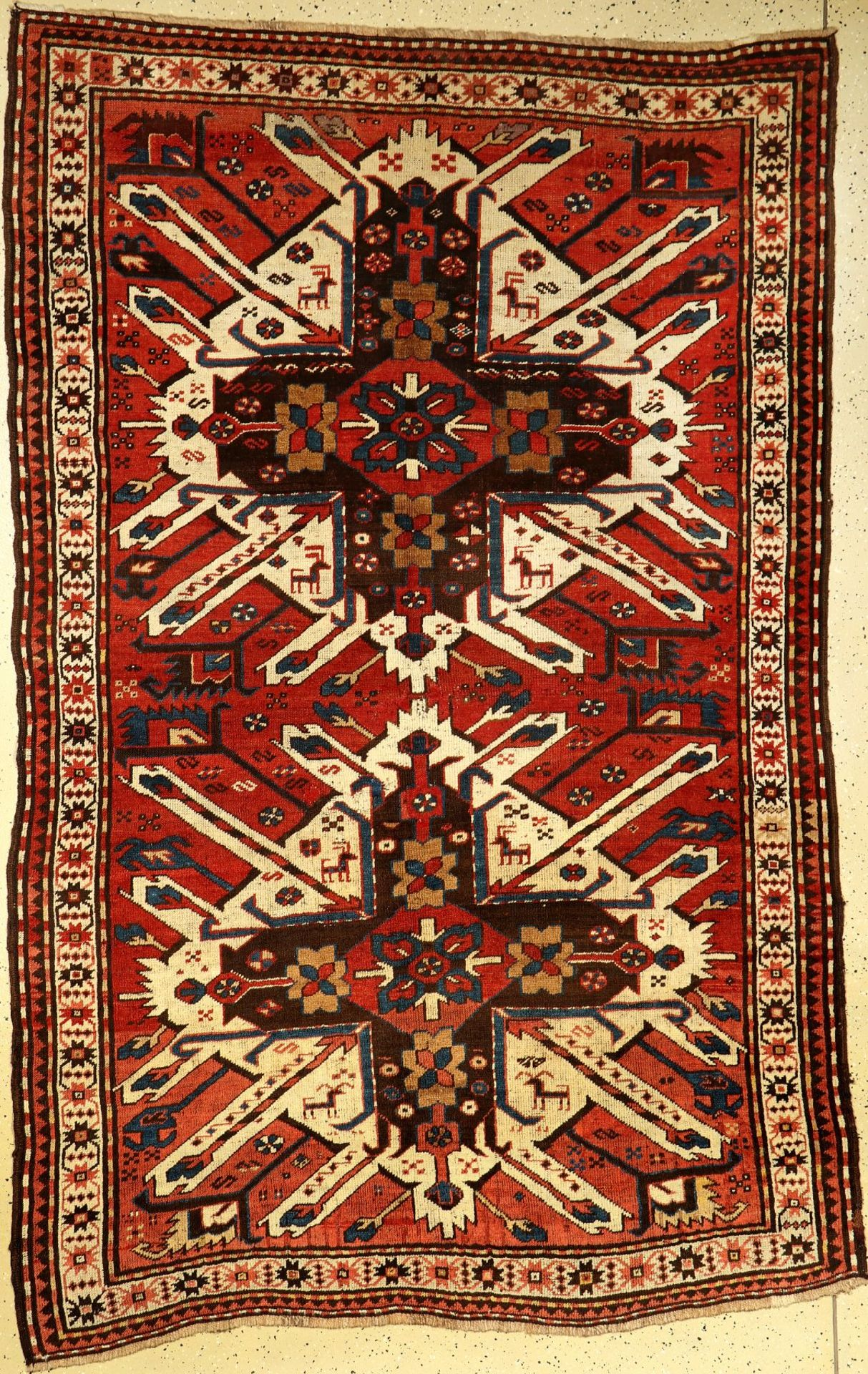 Chelaberd antique (Eagle Kazak), South Caucasus, late 19th century, wool knotted on wool, approx.
