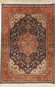 Silk Qum old, Persia, approx. 30 years, pure natural silk, approx. 147 x 101 cm, condition:3.