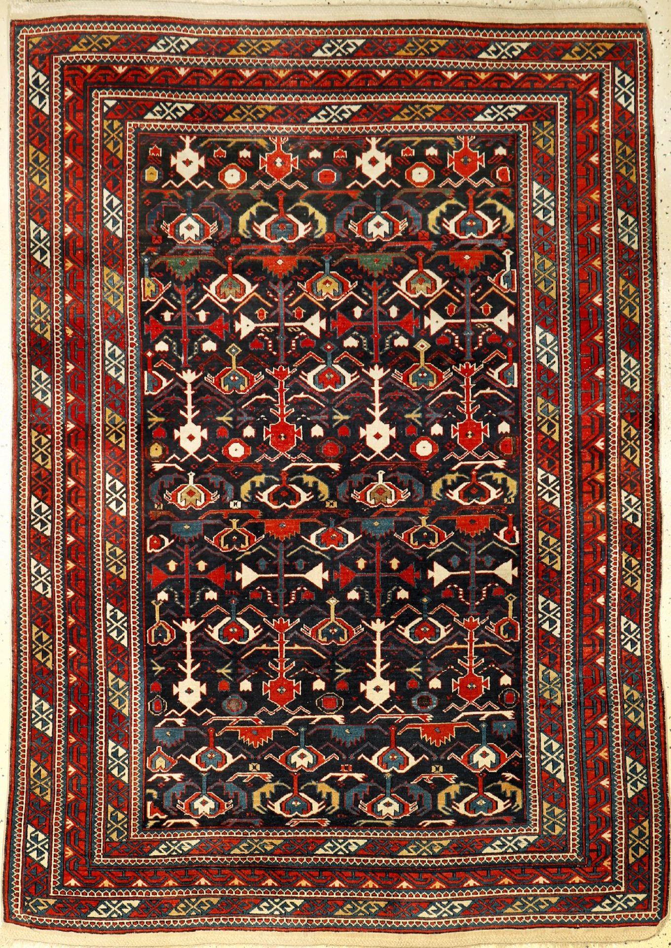 Kuba Shirvan antique, Caucasus, 19th century, wool on wool, approx. 183 x 127 cm, rarity, condition: