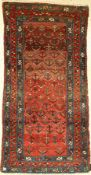 Antique Hamadan tree Rug, Persia, around 1900,wool on cotton, approx. 196 x 103 cm, natural colors