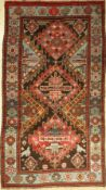 Antique karabagh, Caucasus, around 1900, wool on wool, approx. 225 x 125 cm, condition: 3.