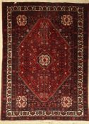 Abadeh, Persia, approx. 60 years, wool on cotton, approx. 205 x 152 cm, condition: 2-3. Auction: